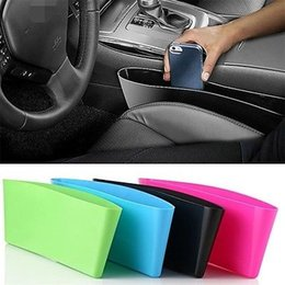 Wholesale Organizer For Car Seats - 2017 Car Seat Gap Storage Box Car Styling Car Seat Pocket Catcher Organizer Store for Auto Seat Free Shipping