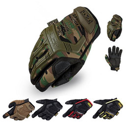 Wholesale Airsoft Fingerless Gloves - Wholesale-Mechanix Wear M-Pact motorcycle gloves men gym tactical fitness paintball outdoor airsoft sport workout wearproof luvas