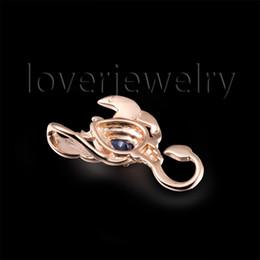 Wholesale Gold Scorpio Pendant - Wholesale-NEW!Scorpio Pendant Solid 18Kt Rose Gold,Natural Diamond Scorpio Sapphire Pendant 750 Rose Gold WP086B