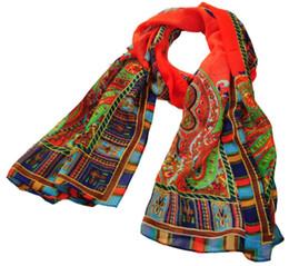 2014 Mais Recente Moda Feminina Longa Seção de Bohemian Macio Fino Caju Flor Chiffon Cachecol FreeShipping Drop Shipping de