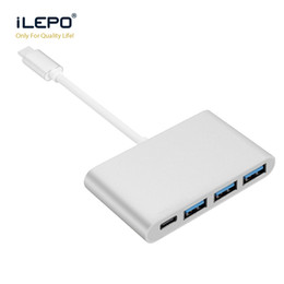 Wholesale Usb Otg Port - USB 3.0 hub 5Gbps electroplate technology metal hub three 2A 3.0 ports support otg LDR6023+VL813 double chip for notebook android phone