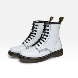 Wholesale Wholesale Men Cowboy Boots - Genuine Leather shoes men and women Boots High Top Martin Motorcycle Autumn Winter shoes Lover snow Boots