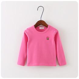 Wholesale Korean Boys Underwear - Wholesale-Korean design children's clothes autumn winter baby solid colors shirts children's underwear t shirt free shipping size