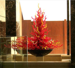 Wholesale Craft Stylish - Free Shipping OEM Mouth Blown Borosilicate Glass Dale Chihuly Craft Modern Pop Art Stylish Glass Table Sculpture