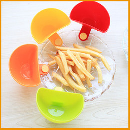 Wholesale Dips Bowl - Dip Clips Kitchen Bowl kit Tool Small Dishes Spice Clip For Tomato Sauce Salt Vinegar Sugar Flavor Spices