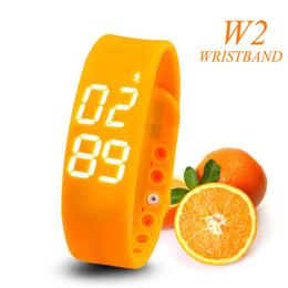 Wholesale Apple Green Watch Strap - W2 Bluetooth Waterproof Smart Watch Wristband Sleep Monitoring Bracelet Sports Pedometer Strap