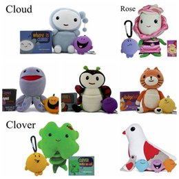 Wholesale Games Flowers - New Kimochis Stuff Plush Toy Bella Pink Rose Flower Huggs Pigeon Clover Cloud Bug Cat 7 Styles 18cm Cute Animal Stuffed Doll DHL