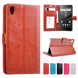 Wholesale Leather Mini Case - For Sony Xperia Z5 Z5mini Vintage Retro Wallet Leather Case Cover Magnet With PhotoFrame Stand Credit Holder For Z5 Compact mini
