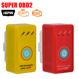 Wholesale Opel Ecu Programmer - 2017 New Super OBD2 Car Chip Tuning Box Plug and Drive SuperOBD2 More Power   More Torque As Nitro OBD2 Chip Tuning NitroOBD2