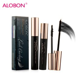 Wholesale Sexy Acme - Wholesale-Alobon acme longer charm curl mascara graft Lash mascara fiber sexy blacks waterproof 8ml + 1g fibers 6815 ALOBON makeup make up