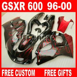 Deutschland Farbe anpassen Verkleidungskit für SUZUKI SRAD GSXR600 96 97 98 99 00 GSXR750 Verkleidung rote Flammen gsxr 600 750 1996 1997 1998 1999 2000 5M6G Versorgung