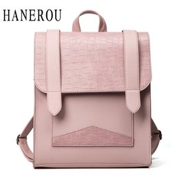 Wholesale Locked Belts For Women - Fashion Stone Backpack Women New Belt School Bags For Teenagers Preppy Style Bags For Women 2017 Top PU Leather Backpack Hot Sac