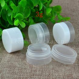 Tarro de crema para el cuidado de la piel vacío 3g X 100, pequeños recipientes de muestra, mini set de botellas de viaje, botella farmacéutica, bote de plástico para bálsamo desde fabricantes