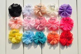 Wholesale Chiffon Ballerina Flowers - Mini Chiffon Flower Shabby Flower Fabric Flower Single Ruffle Unfinished Ballerina Flower 200pcs lot