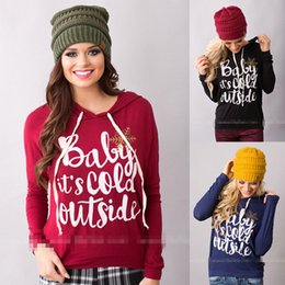 Wholesale Womens Red Pullover Hoodie - Wholesale-New Hoodies Womens Fashion Women Snowflake Print Long Sleeve Pullover Sweater Female Christmas Sweaters