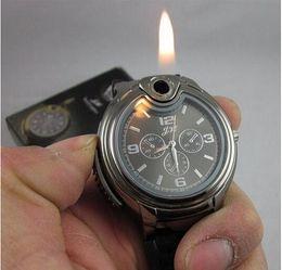 Wholesale Super Cigarette Butane Lighters - super Collectible Watch Cigarette lighter Novelty fashion wrist Watch Refillable Butane Gas Cigarette Cigar Lighter
