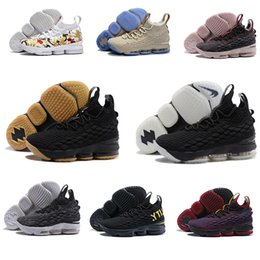 Wholesale Pink 15 - 2018 Zoom 15 Ashes Black Grey Gold Mans Basketball Shoes Space Sneakers Top Outdoor Shoes Size 40-46