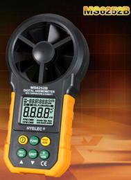 velocidades de fluxo Desconto Atacado-FRETE GRÁTIS New arrivel venda quente Mastech MS6252B Professional Digital Sensor de Anemômetro TRH Air Fluxo de Velocidade umidade