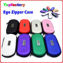 Wholesale Ego Cigarette Small Case - Ego Zipper Case for Electronic Cigarette Bag Large Middel Small Size with Ego Logo Colorful Carry Case for E-cig Kits in Stock