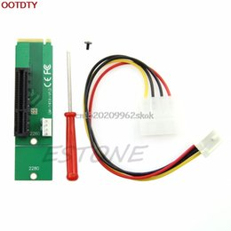 Wholesale Ide Adapter Card - Wholesale- PCI-E 4X Female to NGFF M.2 M Key Male Adapter Power Cable with Converter Card #H029#