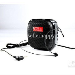 Wholesale Wholesale Cell Phone Booster - Portable 25W Waistband Voice Booster Amplifier Headset Loudspeaker Tweeter Megaphone DHL Free