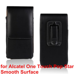 Wholesale Star Mobile Case - High Quality PU Leather Mobile Phone Case Belt Clip Pouch Cover Case For Alcatel One Touch POP Star Mobile Phone Bag