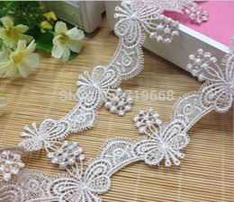 Wholesale Lace Trim For Sewing - NEW ARRIVAL30yards lot 50mm Exquisite heart Lace tape trim flower for women Clothes DIY sewing garment hair accessory