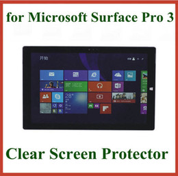 Wholesale Microsoft Screens - 10pcs Ultra Clear LCD Screen Protector for Microsoft Surface Pro 3 Pro 4 Protective Film