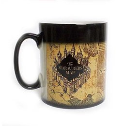 Wholesale Hot Cold Mugs - Harry Marauders Map Hot Cold Temperature Sensitive Color Changing Coffee Tea Milk Mug Cup With GIFT BOX Potter Fans Gift Drop Shipping