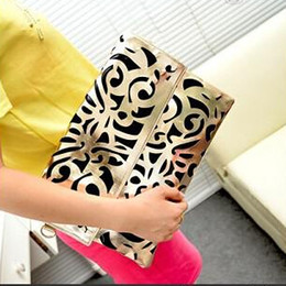 Wholesale New Crochet Bags Designs - New Design Vintage Hollow Messenger Bag PU Leather Bag Candy Color Handbags For Women Top Quality Free Shipping
