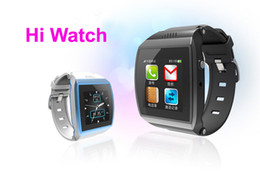 sms camera control Promo Codes - Hi Watch Smart Watch Capacitive touch screen Remote Control Camera Smart watch phone Bluetooth GSM Call sync Contacts sync sms fm Stopwatch