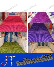 Wholesale Purple Carpet Runner - New 2015 Romantic Wedding Centerpieces Favors 3D Rose Petal Carpet Aisle Runner For Wedding Party Decoration Supplies 14 Color MYY15400