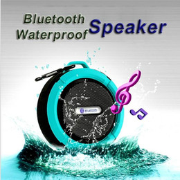 Wholesale outdoor center - Mini C6 IPX7 Outdoor Sports Shower Waterproof Wireless Bluetooth Speaker Suction Cup Handsfree MIC Voice Box For iPhone6 Plus HTC Samsung S6