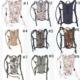 Wholesale Waterproof Bag 3l - 10 Colors! Nylon Waterproof Tactical Military Backpack %2B 3L TPU Hydration Bladder Water Bag Pouch for Outdoor Hiking Climbing
