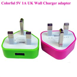Wholesale Mobile Phone Charger Au Plug - Wall charger plug UK GB USB mobile phone charger travel adapter for iphone 4 5 5C 6plus Samsung S6 S6 edge Note 5