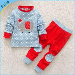 Wholesale Wholesale Childrens Pyjamas - Polka Dotty Child Pyjamas Kids Sleepwear Children Clothing Boy Girl Baby Pajamas Childrens Underwear Toddler Pajamas Autumn Kids Clothes