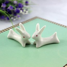 держатель керамической ложки Скидка Wholesale-10pcs/lot Cute Ceramic Ware  Chopsticks Stand Rest Chopsticks Holder Rack Porcelain Spoon Fork Holder New free shipping