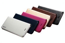 Wholesale Genuine Apple Accessories - Genuine Leather Case for iPhone 6 Plus 5.5 inches Cell Phone Accessories with TPU Cover Card Slots bags and stand Magnet KL4A37