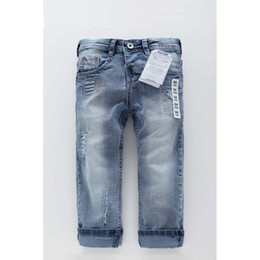 Wholesale New Arrivals For Children Winter - New Arrival Jeans Kids Boys Jeans for Children Overall Fashion Brand High quality Blue boys inner elastic jeans