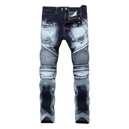 Hommes Femmes Slim Stretch Jeans Frapper Le Zipper Trou Bicolor Mill  Pantalon Blanc Hommes Denim Pantalon Hip Hop Hommes Jeans 34cb541a42b4