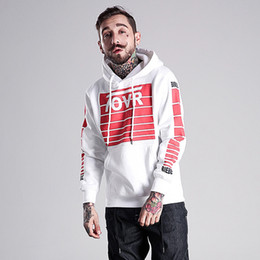 Wholesale Thin White V Neck Sweater - Hooded sweater men's tide brand couple thin hoodies fall and winter hip-hop hedging and velvet loose