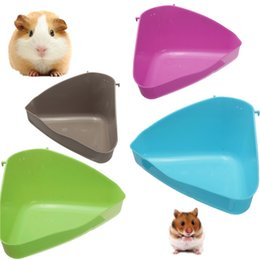 Wholesale Pig Tray - NEW Hot selling Pet Cat Rabbit Rat Hamster Corner Litter Pan pig Triangle tray Home Garden small animals toliet plastic order<$18no track