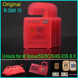 Wholesale X Sim Iphone 4s - Original Newest Unlock Card R-SIM 10 RSIM 10 R SIM 10 unlock for iphone 6 6plus 5s 5c 5 4s iOS6. X-8.X WCDMA GSM CDMA free shipping DHL