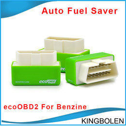 Wholesale cars ecu programmer - Newly EcoOBD2 Benzine Car Chip Tuning Box Plug and Drive OBD2 Chip Tuning Box Lower Fuel and Lower Emission Auto fuel saver for Gasoline car