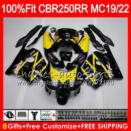 1988 cbr Coupons - Injection For HONDA CBR 250RR CBR250RR 88 89 90 91 92 93 96HM6 Yellow black MC19 MC22 250 CBR250 RR 1988 1989 1990 1991 1992 1993 Fairing