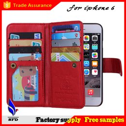 Wholesale Iphone Blue Coin Case - Flip Magnetic 2 in 1 Leather Wallet Coin Purse wallet Credit Card slots cover case Photo cases For Iphone 6 6+ Plus samsung S6