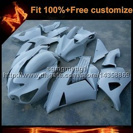 Wholesale White Zx14r - 23colors+8Gifts Injection mold WHITE ZX14R 2006 2012 bodywork motorcycle Fairing For Kawasaki ZZR1400 10 11 12 ZX 14 ZZR 1400 06 07 08 09