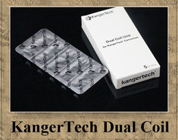 Wholesale Original Kanger Protank Atomizer - 100% Original KangerTech Dual Coil Unit kanger tech protank 3 Aerotank 2 atomizer 0.8ohm 1.0ohm 1.2ohm 1.5ohm 1.8ohm
