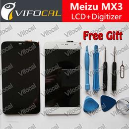 оригинальные мобильные телефоны lcd оптом Скидка Wholesale-Meizu MX3 LCD Display + Touch Screen + Tools 100% Original Digitizer Assembly Replacement Accessories For Mobile Phone - White