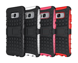Wholesale Silicone 3d Cases - For Samsung Galaxy S6 S7 S8 S8 plus Case 3D Smart Armor Tire Texture with Phone Case for Samsung Note 8 J1 J5 J7 A5 2017 Back Cover silicone